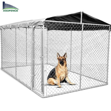 Galvanised Steel chain link mesh Dog Kennel Enclosure 4x2.3x1.83m