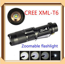 wholesale 2015 new Zoomable SK98 xml-t6 LED 1000-2000 Lumen 5 Mode cheap led aluminum flashlight t6 with xm-l t6 led