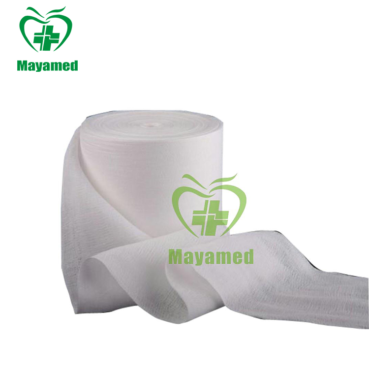 MY-L057 medical surgical absorbent cotton Gauze Roll(CE&ISO certified)