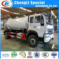 Heavy duty HOWO vacuum tanker Sewage Suction Tank 8CBM for sale