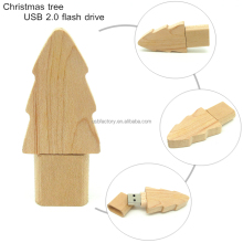 Christmas Tree Shaped USB flash disks, Wooden tree memory drives pens, Novelty tree usb memory pens 1gb 2gb