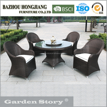 202C Round Table With Four Sofas Outdoor Garden Furniture