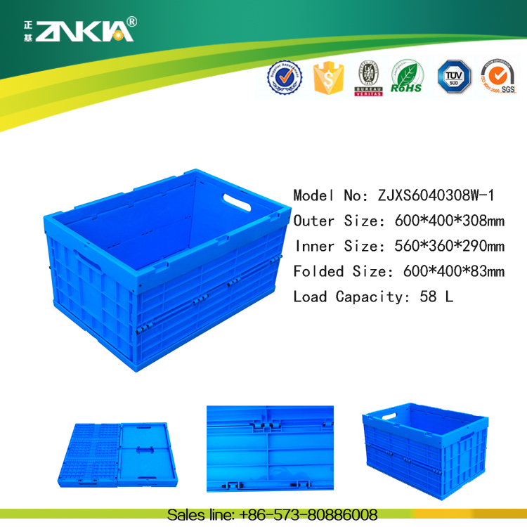 Stackable antistatic plastic container