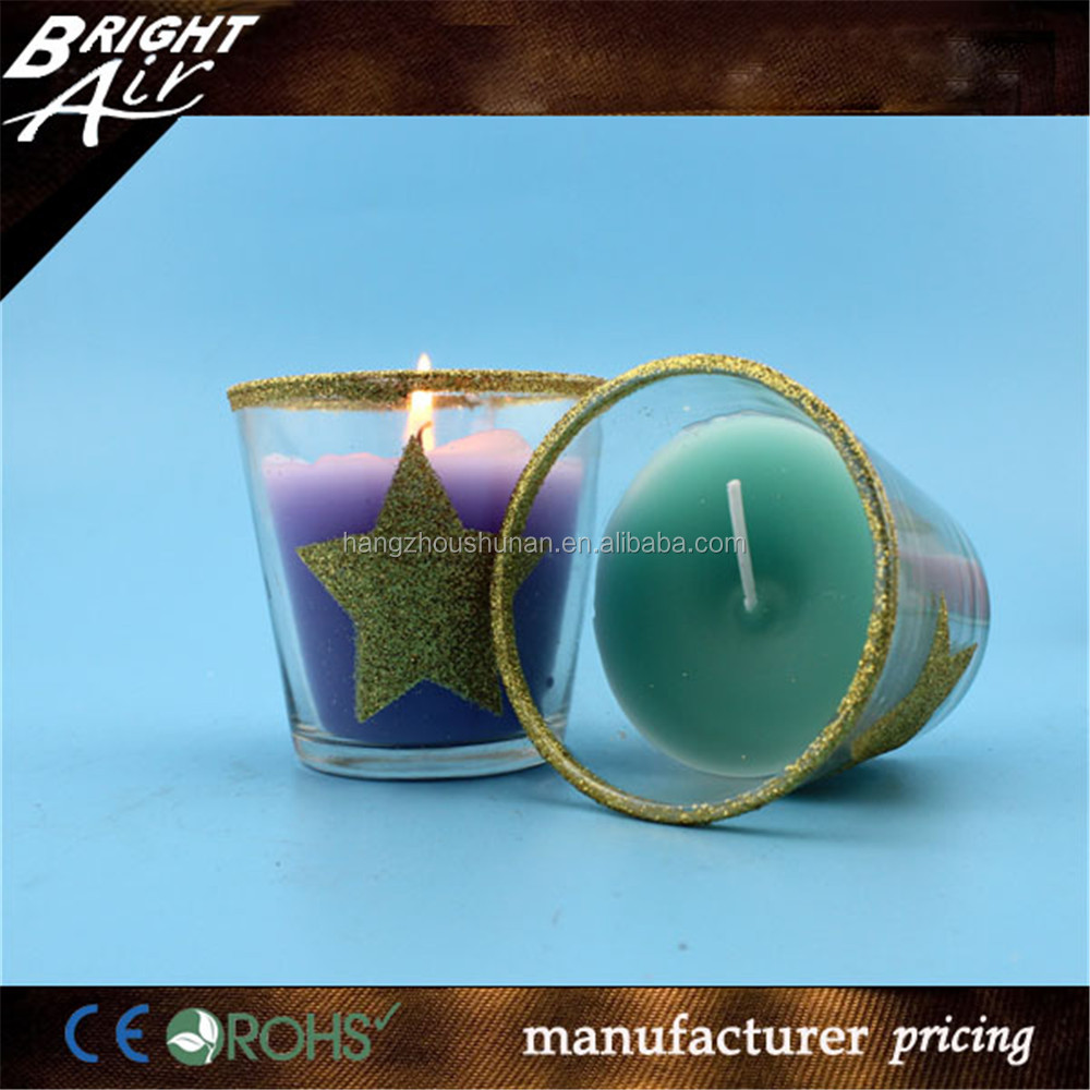 Manufactures of birthday scented candle in glass cup