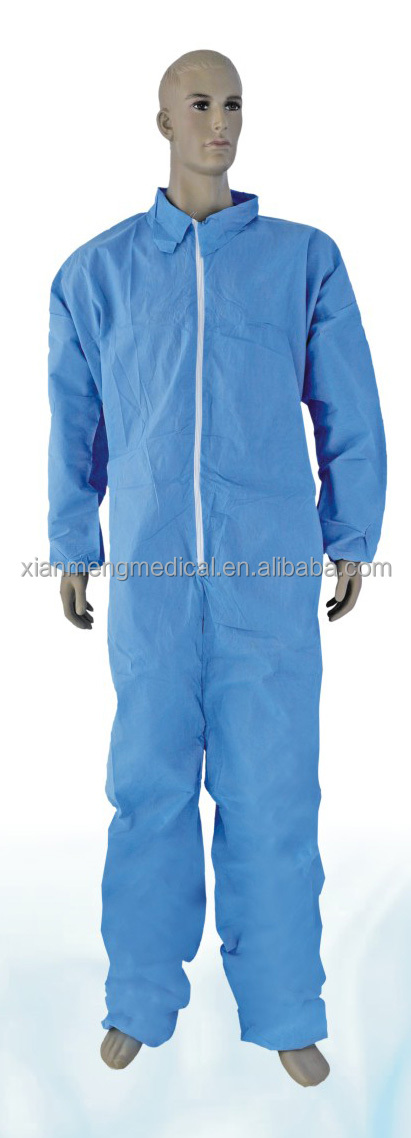 Free sample unisex nonwoven disposable protective clothing medical coverall