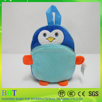 cute penguin backpack set of plush toys, blue plush penguin toy