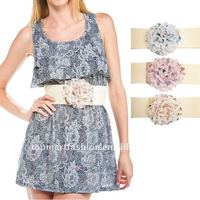 2012 Newest Women Fashion Flower Elastic
