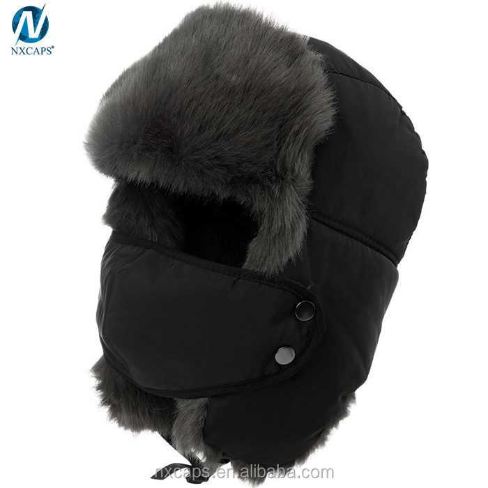 Earflap hunting hat russian ushanka military bomber hat mens winter cap cycling trapper hat