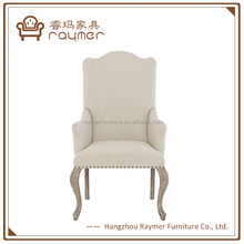 Felicity French Beige Nailhead Trim dining room Armchair