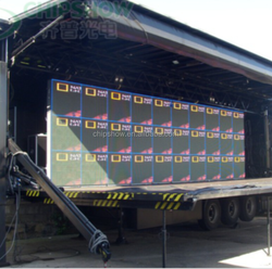 Exclusive sky curtain matrix 8x8 digit p8 mobile led sign p3 p4 outdoor flat 1920x1080 5KG widely used in Europe