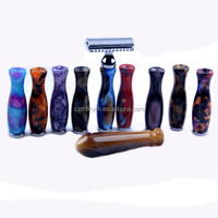 new arrival resin handle acrylic color handle strong shaver