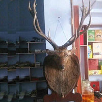 new arrival wholesale artificial wooden wall decoration plastic deer head