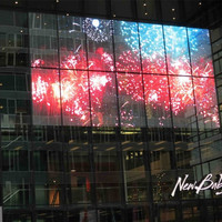 Large media facade led display screen for glass