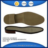 men leather rubber shoes sole with custom design