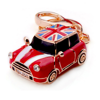Antique Wecker Car Model Keychain Mini