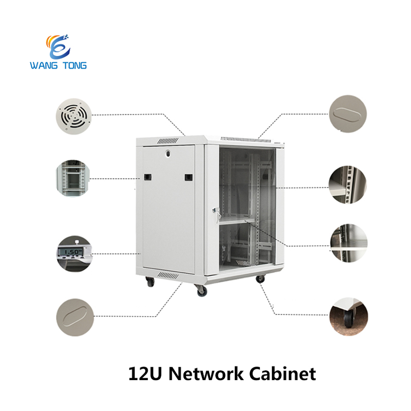 Best Price Data center 19 inch server rack 12U outdoor network cabinet with lock