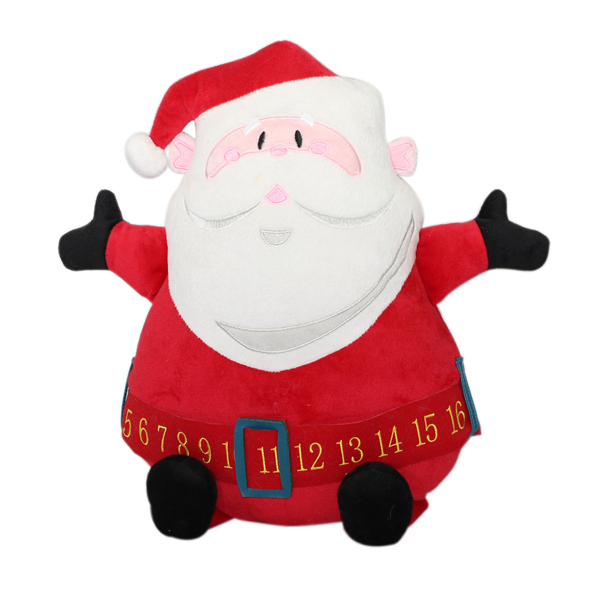 2016 cuddly plush stuffed Santa Claus for decoration