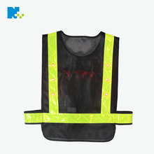 New design LED warning safety reflective mesh fabric traffic police vest