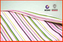 Stripe yarn dyed fabric cotton polyester spandex stretch fabric