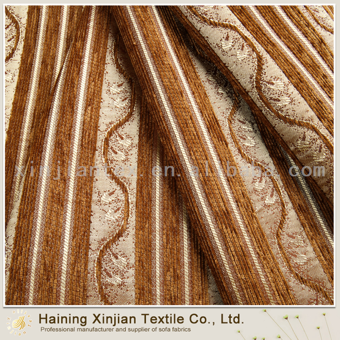 100% Poly heavy weight chenille jacquard fabric