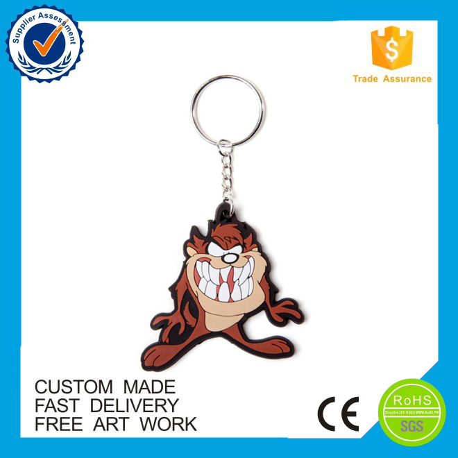 Promotional animal pvc keyring cartoon key chain