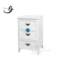 Pine wood furniture quilt cabinet with white paint and multi drawers