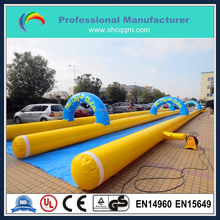 300m long inflatable double lane slip slide for sale/inflatable water slide for sale