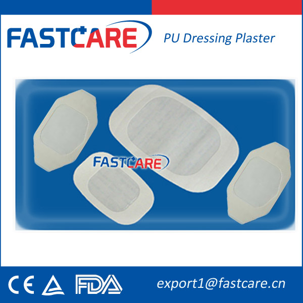 CE Sterile High Absorbent Transparent PU Wound Dressing Plaster