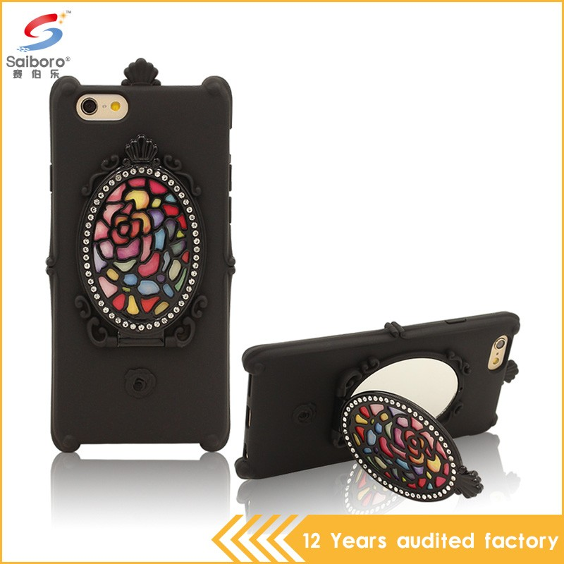 Factory price shockproof black hard silicone case for iphone 6