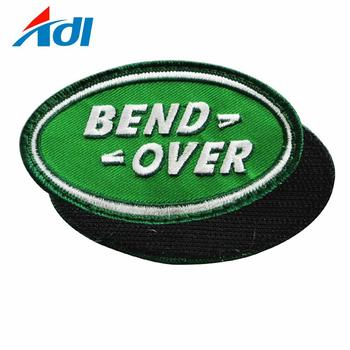 Custom embroidered iron on heat pressed name patches with logo