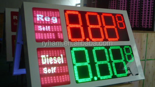 wholesale alibaba double sides gas station led display/gas led price sign