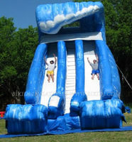 inflatable wave double lane water slide commercial use B4037
