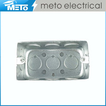 Meto High Quality square Steel Switch electrical metal box/handy box