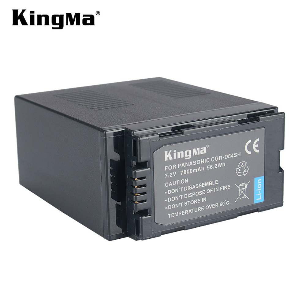 KingMa 7800mAh CGR-D54S CGR-D54SH D54SH Camera Battery Pack for Panasonic Camcorder NV-MX1000 NV-MX2500 NV-MX350 NV-MX5 NV-MX500