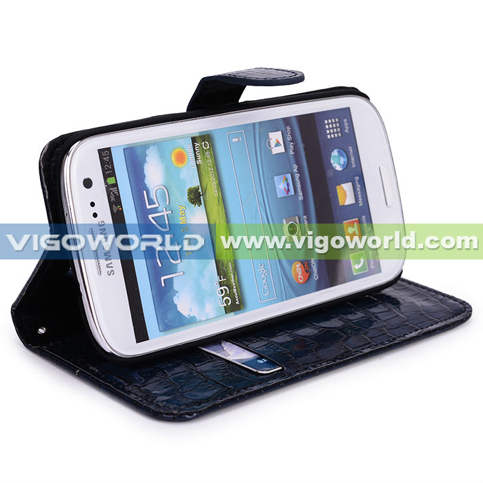 Colorful PU Leather Wallet Type Magnet Design Flip Case Cover for Samsung Galaxy S3 i9300