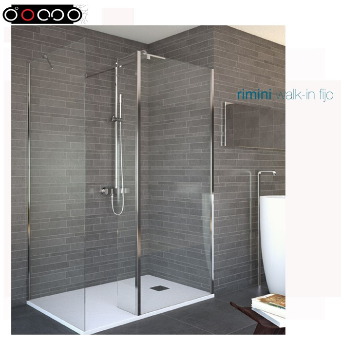 2018 Domo 10mm Tempered Glass Shower Enclosure without door Rimini