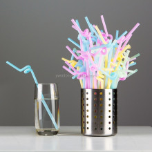 Color Separation Mix Bar Party Cocktail Artistic Flexible & Disposable Drinking Straws Artistic Suction Tubes