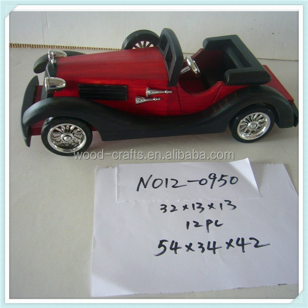 2015 home deco arts and crafts of classic car wooden factory direct sale