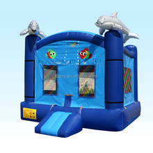 Sea world theme dolphin inflatable bounce house for kids in outdoor playground or indoor place China