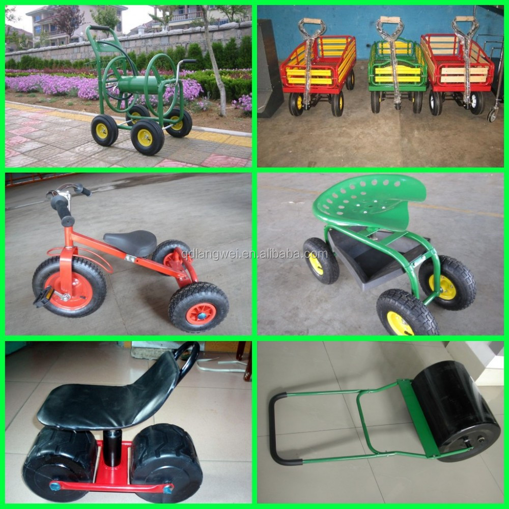 Garden trolley garden tool cart with drop down sides