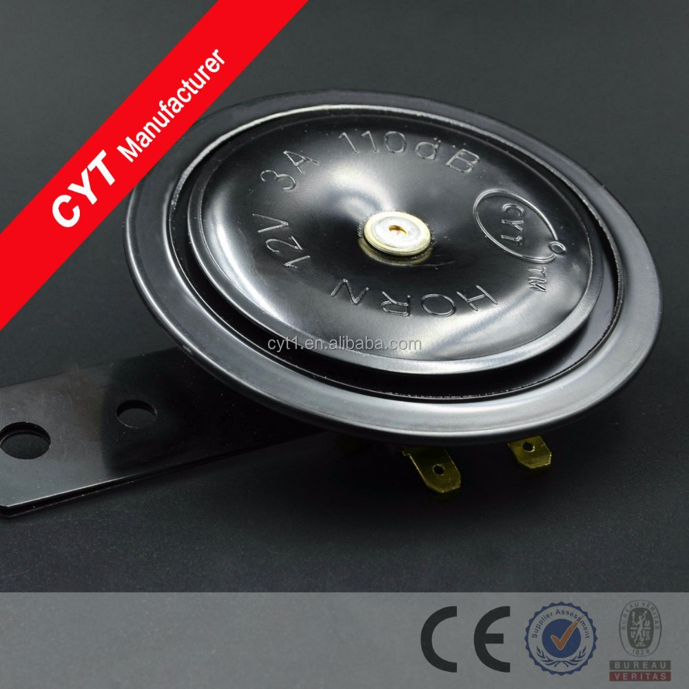 Car 35W 12V 110dB 3A Motorcycle electric Horn Air Horn - Black/horn speaker-7