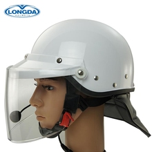 High reputation communication system police motorcycle riot helmet with intercom