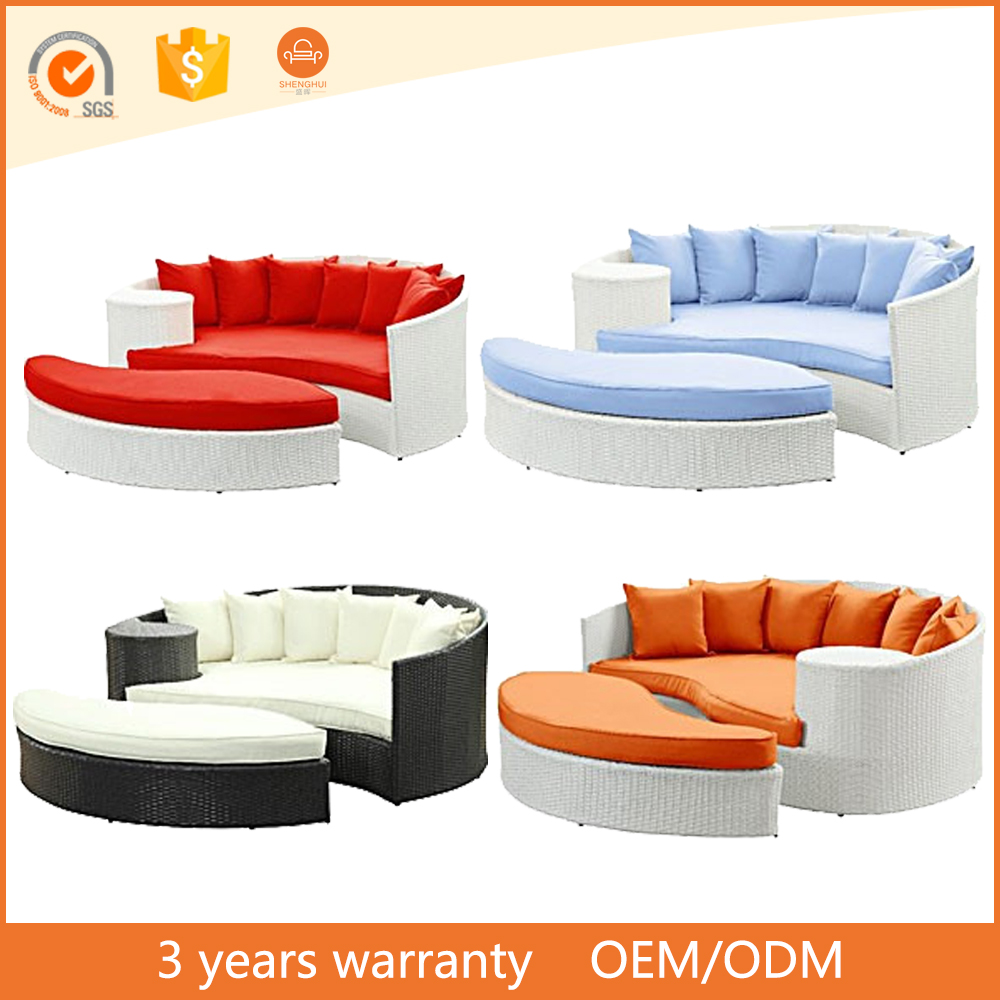 Beauty Lazy Bone Outdoor Rattan Sofas With Stool Lowes Outdoor Used Furniture sofa Bed