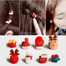 Z51899B Christmas Santa Hat hair clamp, hair claw, hair clip