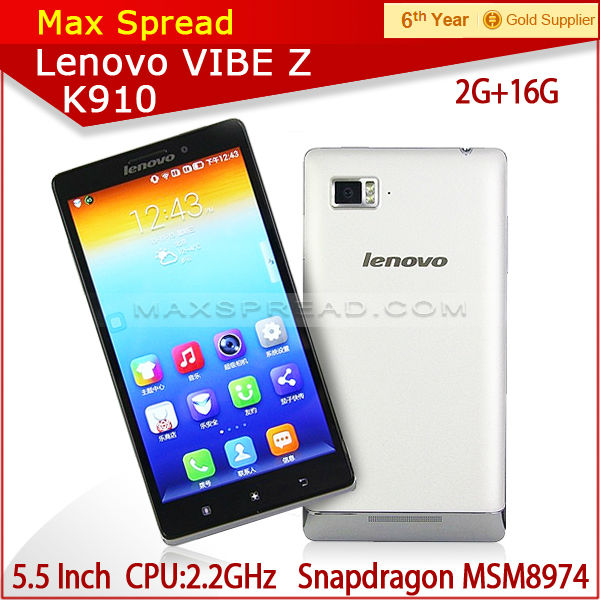 in stock! 5.5 inch screen original Lenovo k910 MSM8974 2g ram 16g rom android smartphone