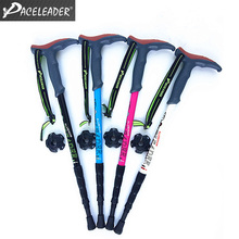 Factory Direct Sales Durable Aluminum Travel Walking Stick with 4-section Style Excellent Option for Outdoor Sports