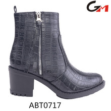 china guangzhou wholesale high quality crocodile PU upper women shoes boots