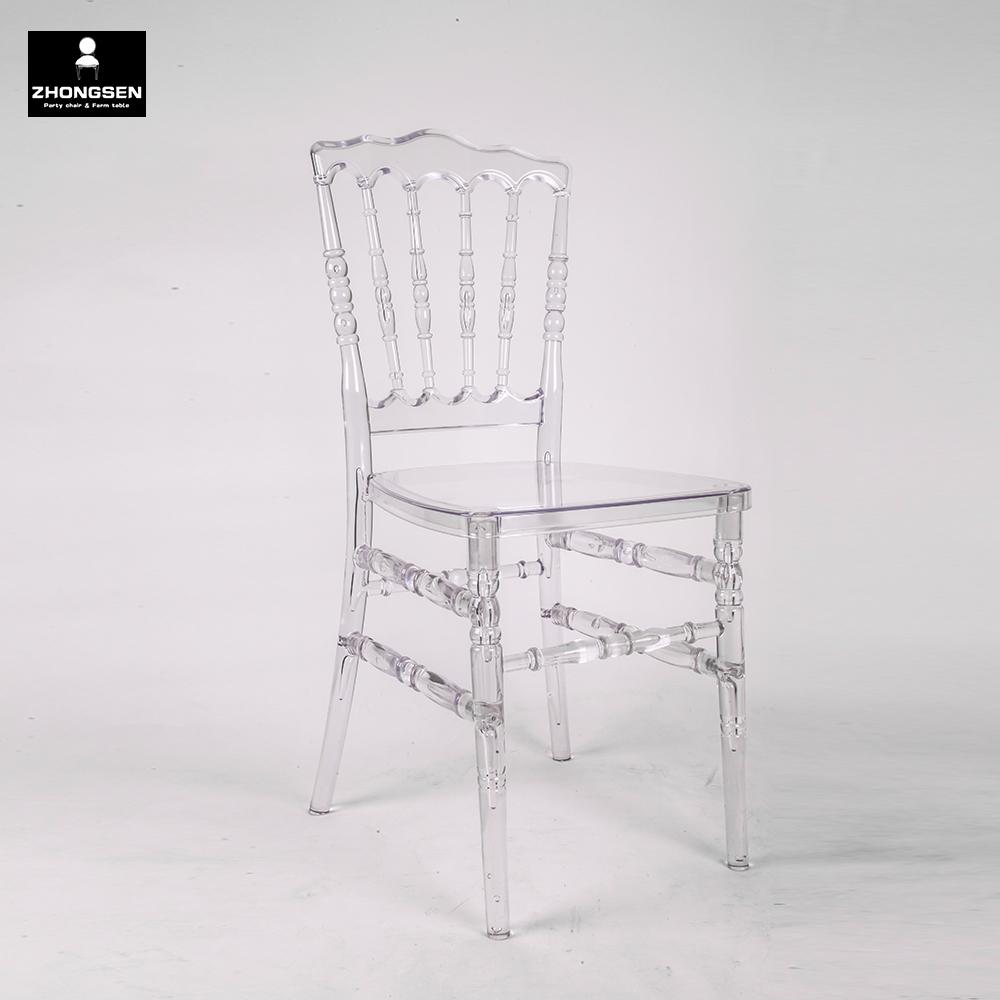 Tiffany Chiavari Ghost Napoleon Wedding Clear Plastic Phoenix Chair