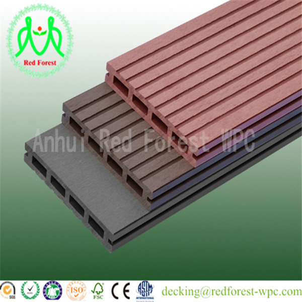 Hot sale!water proof wood plastic composite decking passed CE, Germany standard, ISO9001