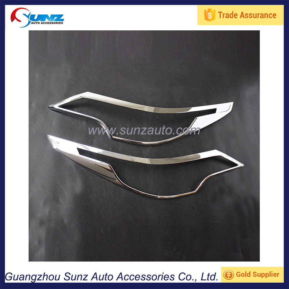 Toyota Fortuner 2016 ABS Chrome Headlight Cover Trim Chromed SUV Fortuner Accessories